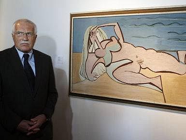 Expozici zahájil 29. května prezident republiky Václav Klaus (na snímku). Výstava potrvá do 31. října. Emil Filla je jedním z nejvýznamějších českých malířů a je jedním ze zakladatelů světového kubismu.