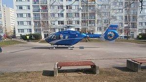 Zásah vrtulníku v Hájích