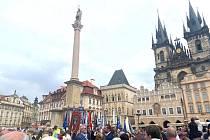 V sobotu 15. srpna byl požehnán mariánský sloup na Staroměstském náměstí.