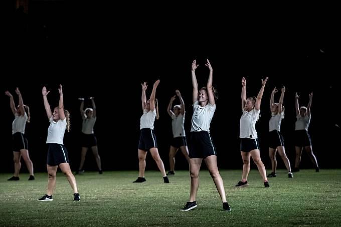 První program hromadných skladeb v rámci XVI. všesokolského sletu proběhl 5. července 2018 pražské Eden Aréně.