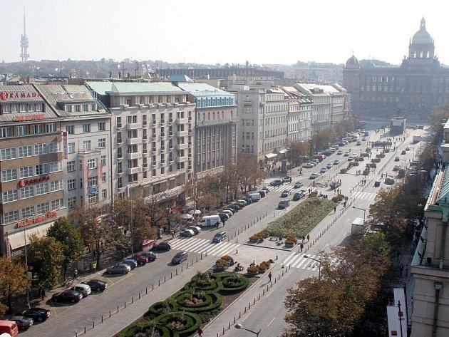 Václavské náměstí v Praze.