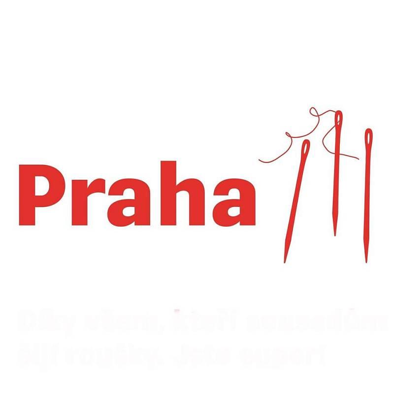 Praha 3 nechala nové logo aktualizovat v reakci na šití roušek.