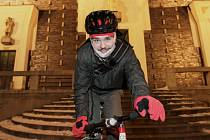 Lednová Pupova cyklojízda. Náměstí Jiřího z Poděbrad