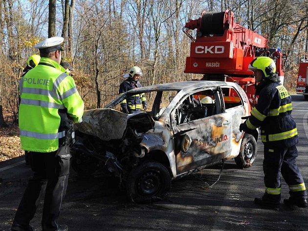 Požár auta