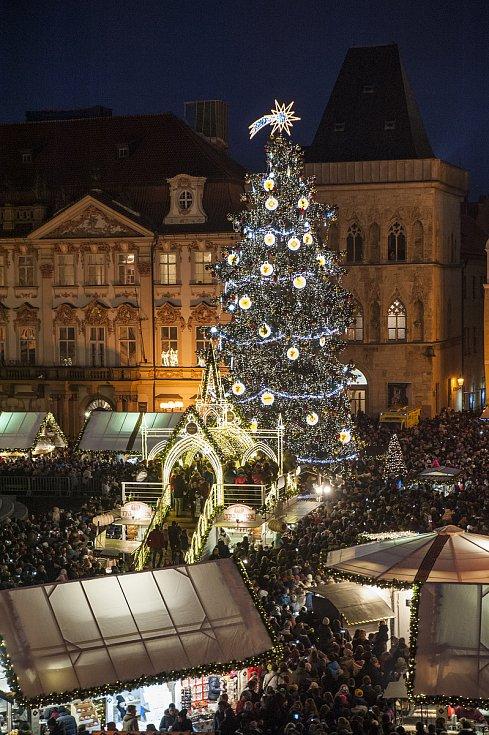 Rozsvícení vánočního stromu na Staroměstském náměstí, 2.11.2017