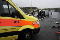Nehoda u Lanového mostu.