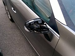 Poničená auta.