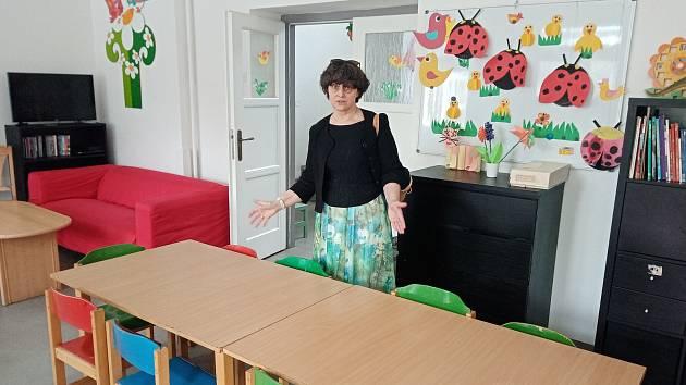 Interiér zbraslavského dětského domova.