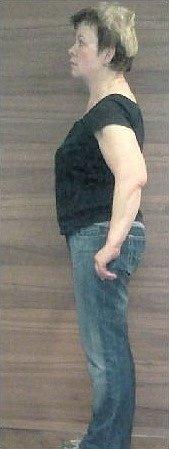 PŘED DIETOU. Paní Olga Vorlová snámi začínala hubnout včervnu: 67,5kg při výšce 155cm.
