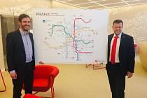 Pražská koalice schválila zahájení stavby metra D tajně. Na snímku radní pro dopravu Adam Scheinherr (Praha sobě) a šéf dopravního podniku Petr Witowski.
