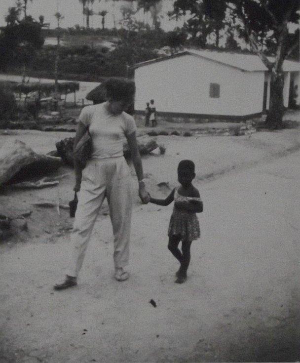 Šťovíčková služebně v Africe.