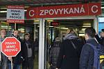 Happenning - Přejmenování stanice metra Budějovická na stanici Zpovykaná.