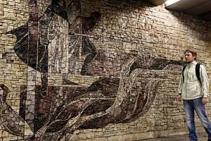 Mozaika v pražském metru – stanice Flora.