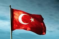 Turecká vlajka. Ilustrační foto.