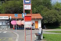 Autobusová zastávka Bulovka.