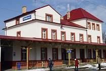 Vlakové nádraží v Čelákovicích.