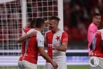 Stálo to hodně sil, ale tři body zůstaly v Edenu. Slavia v neděli večer udolala Slovácko 2:1.