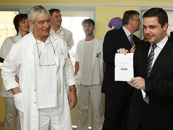 Jména pro dva speciální razicí štíty vybrali malí pacienti z Kliniky dětské chirurgie Fakultní nemocnice Motol.