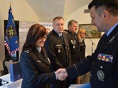 Setkání a ocenění policistů, kteří pracovali na bezpečnostních opatřeních v rámci 79. ročníku světového šampionátu v ledním hokeji v Praze a Ostravě.