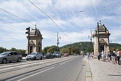 Opravy pražských mostů, most Legií, 15.8.2017