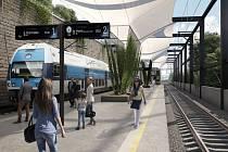 Plánovaná železniční zastávka Praha-Karlín.