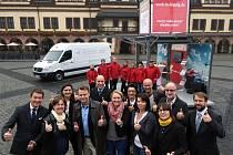 Start roadshow, která má představit zájemcům region Lipsko, místní podniky a společnosti a s tím související konkrétní pracovní možnosti a pozice, jež nabízí trh práce v západním Sasku.