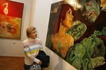 Jedn z obrazů sbírky od Jaroslava Vožniaka s názvem Sharon Tate z roku 1968.