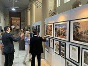 Zahájení výstavy Hrady a zámky České republiky v Syrském národním muzeu v Damašku.