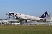 Embraer E195 společnosti LOT.