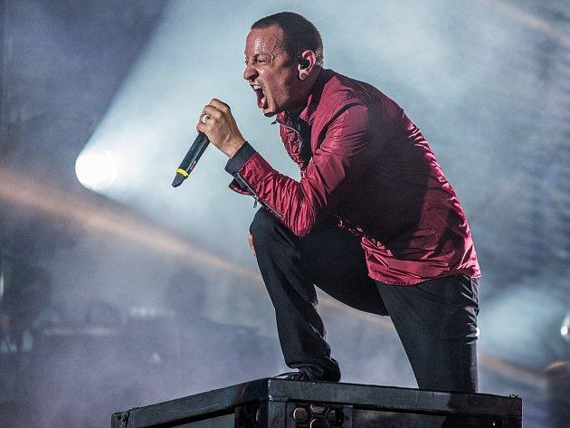 Aerodrome festival 2017. Zpěvák skupiny Linkin Park Chester Bennignton.