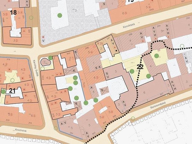Jediný platný regulační plán v Praze existuje pro takzvanou zónu Anenská na Starém Městě.