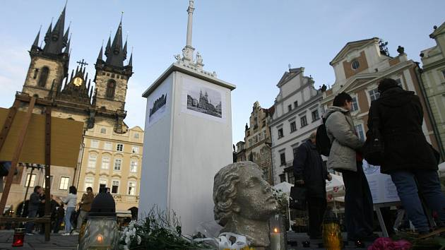 Kopie Mariánského sloupu na Staroměstském náměstí