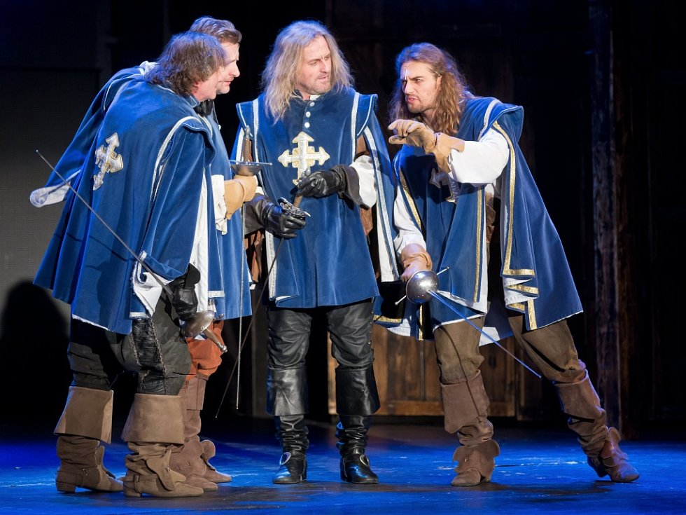 Z muzikálu Tři mušketýři v Divadle Broadway v Praze.