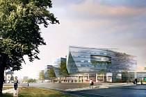 Vizualizace: poslední návrh, jak bude nové obchodní a administrativní centrum Bořislavka vypadat.