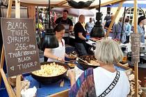 Francouzské trhy na Kampě provázela příjemná atmosféra.