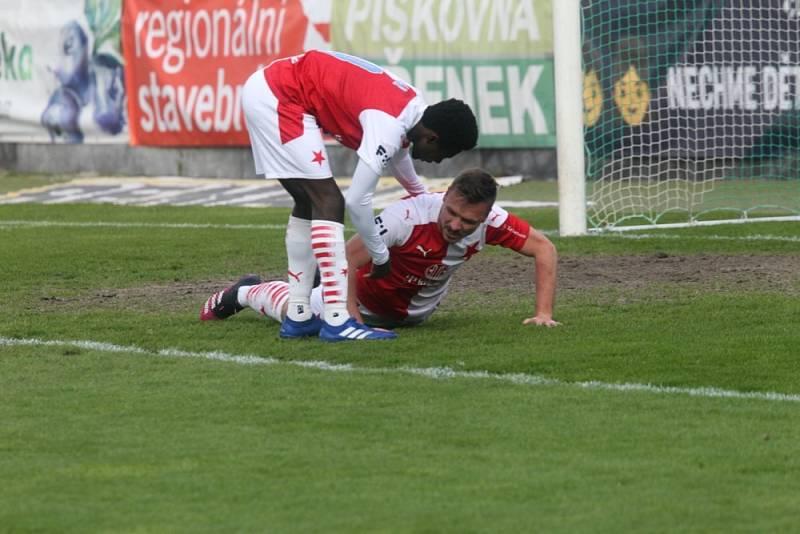 Utkání fotbalové FORTUNA:LIGY mezi Bohemians 1905 a Slavií Praha skončilo 0:0.
