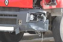 Nehoda náklaďáku. Ilustrační foto.