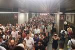 Kolaps metra C během výluky mezi stanicemi Pražského povstání a Kačerov (1. července 2019).