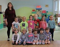 Naši předškoláci - MŠ Nad Palatou - 1. třída, učitelka a ředitelka školy Bc. Pavla Vocelková.