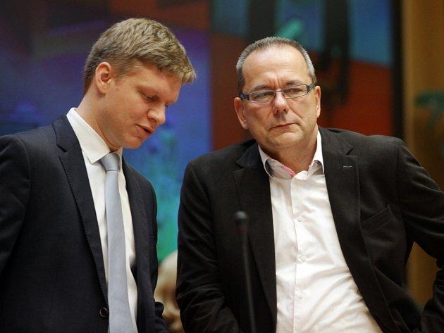 Jiří Vávra vpravo a Tomáš Hudeček.
