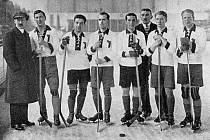 Hokejový tým Československa na olympiádě 1920.