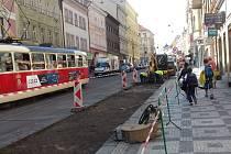 Rekonstrukce zastávky Kamenická.