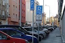 Zóny placeného stání na Praze 3 Žižkově.