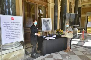Rozloučení s režisérem Jiřím Menzelem v pražském Rudolfinu 18. září 2020.