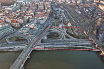 Na tomto místě by měl vzniknout nový koncertní sál v Praze. Projekt má pracovní název Vltavská filharmonie.