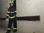 Zásah hasičů ve Vinohradské nemocnici.