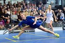 Hvězda Squash clubu Praha Olga Kolářová.