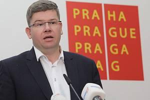 Představení programu nové koalice na Magistrátu hlavního města Prahy. Jiří Pospíšil.