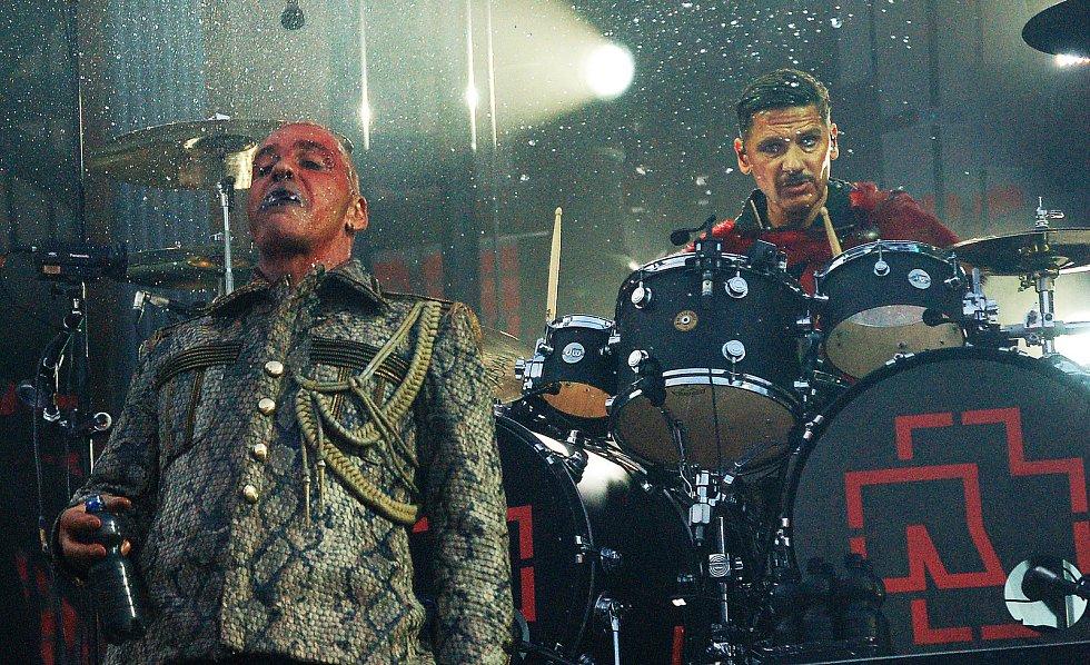 Na stadionu Eden v Praze vystoupila 16. července 2019 německá skupina Rammstein.