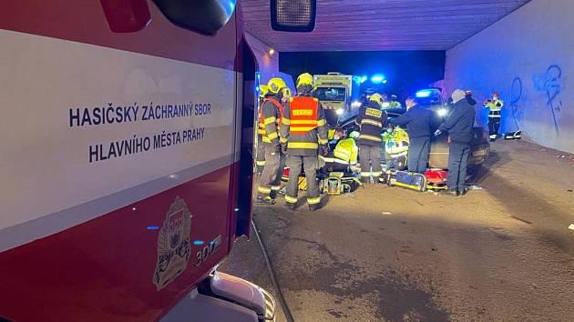 Tragická nehoda v ulici Národních hrdinů.